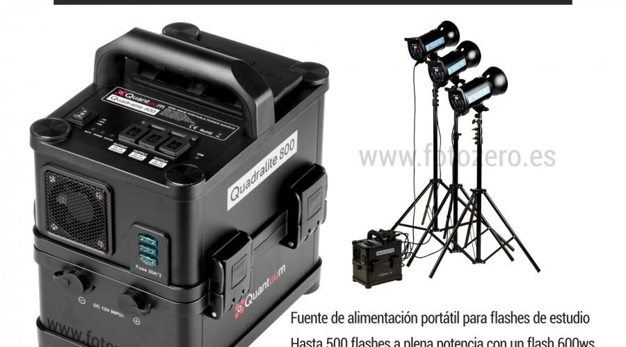 NUEVO Quadralite 800 Powerpack
